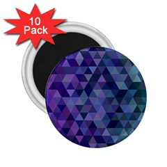 Triangle Tile Mosaic Pattern 2 25  Magnets (10 Pack)