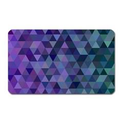 Triangle Tile Mosaic Pattern Magnet (rectangular)