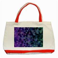 Triangle Tile Mosaic Pattern Classic Tote Bag (red)