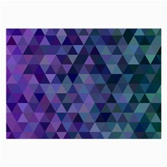 Triangle Tile Mosaic Pattern Large Glasses Cloth