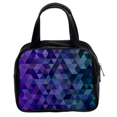 Triangle Tile Mosaic Pattern Classic Handbags (2 Sides)
