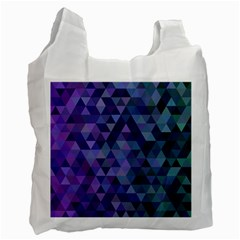 Triangle Tile Mosaic Pattern Recycle Bag (two Side)