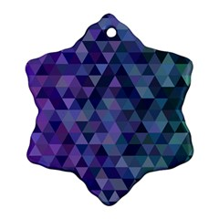 Triangle Tile Mosaic Pattern Ornament (snowflake)