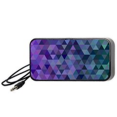 Triangle Tile Mosaic Pattern Portable Speaker (black)