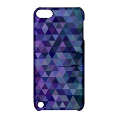 Triangle Tile Mosaic Pattern Apple Ipod Touch 5 Hardshell Case With Stand
