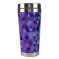 Triangle Tile Mosaic Pattern Stainless Steel Travel Tumblers