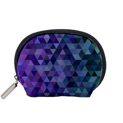 Triangle Tile Mosaic Pattern Accessory Pouches (small)