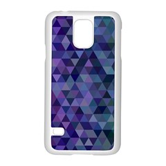 Triangle Tile Mosaic Pattern Samsung Galaxy S5 Case (white)