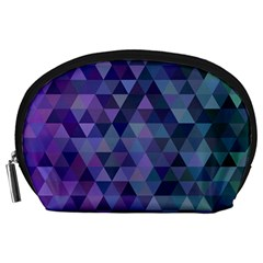 Triangle Tile Mosaic Pattern Accessory Pouches (large)