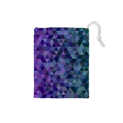Triangle Tile Mosaic Pattern Drawstring Pouches (small)