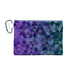 Triangle Tile Mosaic Pattern Canvas Cosmetic Bag (m)