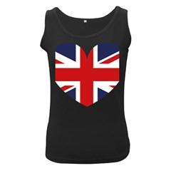 Uk Flag United Kingdom Women s Black Tank Top