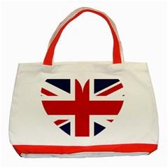 Uk Flag United Kingdom Classic Tote Bag (red)