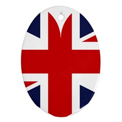 Uk Flag United Kingdom Oval Ornament (two Sides)