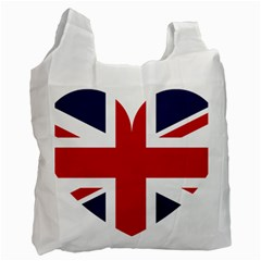 Uk Flag United Kingdom Recycle Bag (two Side)