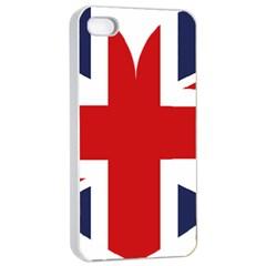 Uk Flag United Kingdom Apple Iphone 4/4s Seamless Case (white)