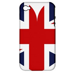 Uk Flag United Kingdom Apple Iphone 4/4s Hardshell Case (pc+silicone)