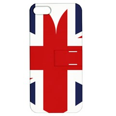 Uk Flag United Kingdom Apple Iphone 5 Hardshell Case With Stand