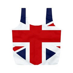 Uk Flag United Kingdom Full Print Recycle Bags (m)