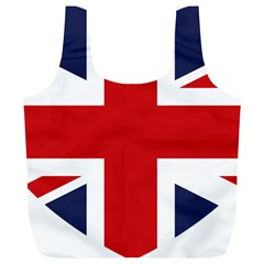 Uk Flag United Kingdom Full Print Recycle Bags (l)