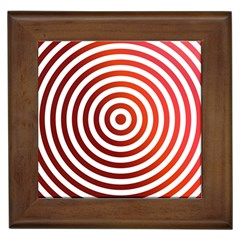 Concentric Red Rings Background Framed Tiles