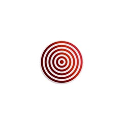 Concentric Red Rings Background 1  Mini Buttons