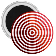 Concentric Red Rings Background 3  Magnets