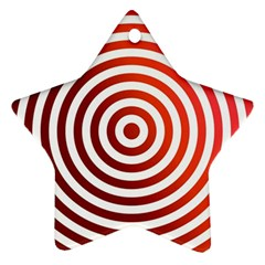 Concentric Red Rings Background Ornament (star)
