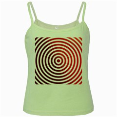 Concentric Red Rings Background Green Spaghetti Tank