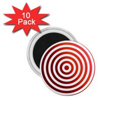 Concentric Red Rings Background 1 75  Magnets (10 Pack)