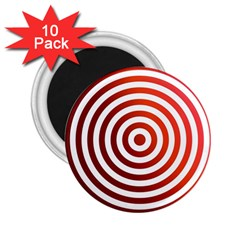 Concentric Red Rings Background 2 25  Magnets (10 Pack)