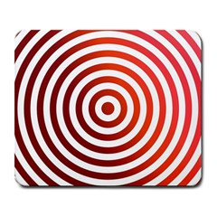 Concentric Red Rings Background Large Mousepads