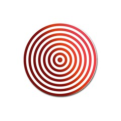 Concentric Red Rings Background Magnet 3  (round)