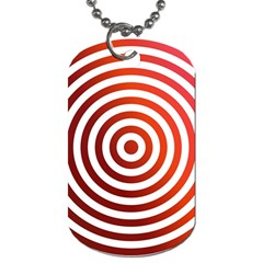 Concentric Red Rings Background Dog Tag (two Sides)
