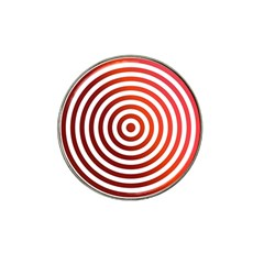 Concentric Red Rings Background Hat Clip Ball Marker