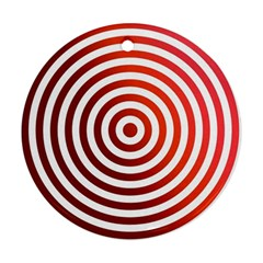 Concentric Red Rings Background Round Ornament (two Sides)