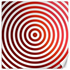 Concentric Red Rings Background Canvas 12  X 12