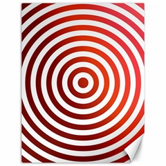 Concentric Red Rings Background Canvas 12  X 16