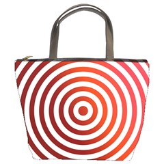 Concentric Red Rings Background Bucket Bags