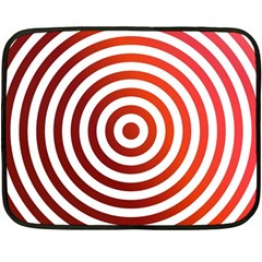Concentric Red Rings Background Fleece Blanket (mini)