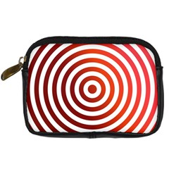 Concentric Red Rings Background Digital Camera Cases