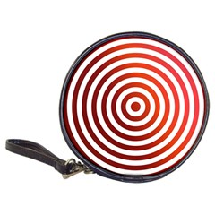 Concentric Red Rings Background Classic 20 Cd Wallets