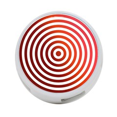 Concentric Red Rings Background 4 Port Usb Hub (two Sides)