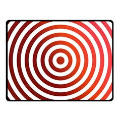 Concentric Red Rings Background Fleece Blanket (small)