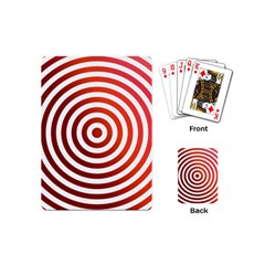 Concentric Red Rings Background Playing Cards (mini)