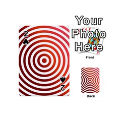 Concentric Red Rings Background Playing Cards 54 (mini)