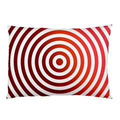 Concentric Red Rings Background Pillow Case (two Sides)
