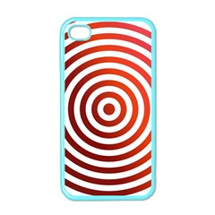Concentric Red Rings Background Apple Iphone 4 Case (color)