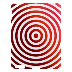 Concentric Red Rings Background Apple Ipad 3/4 Hardshell Case