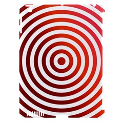 Concentric Red Rings Background Apple Ipad 3/4 Hardshell Case (compatible With Smart Cover)